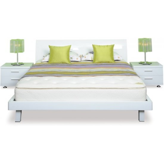 Arctic Slat Bed Queen Frame and Headboard