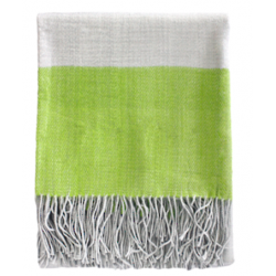 Boucle Yarn Throw - striped