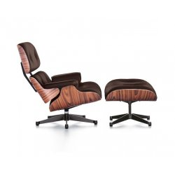 Charles Eames Chair & Footstool Italian Leather Replica