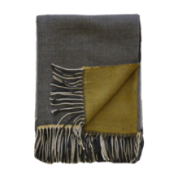 McMurdo Throw - Ochre/Grey