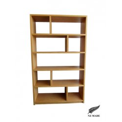 Offset Cube Oak Bookcase
